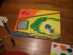 I paint on the floor because I don't have an easel | by Verabug