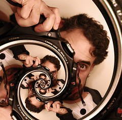 Obligatory Droste Self portrait, with multiplicity... | by Josh Sommers