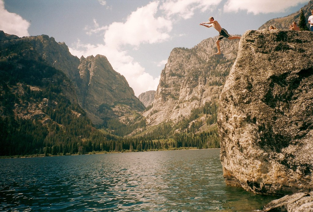 Grand tetons cliff jumping people on tumblr like this phot flickr - Highest cliff dive ever ...