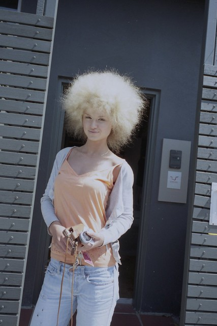 Blonde Afro A Model I Did Her Hair Afro Ikue Flickr