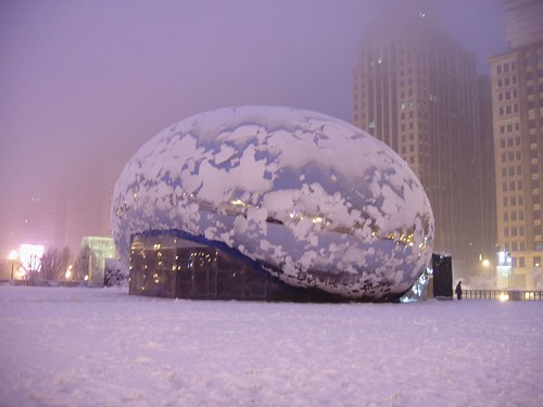 Millennium Park Chicago (during snow fall Feb-2006) | by ashishnigam2002