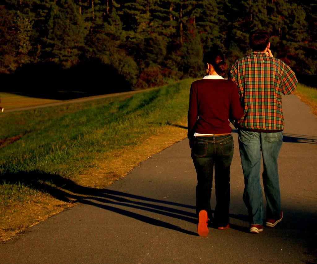 Walk Fall A Random Couple Takes A Walk In The Fall