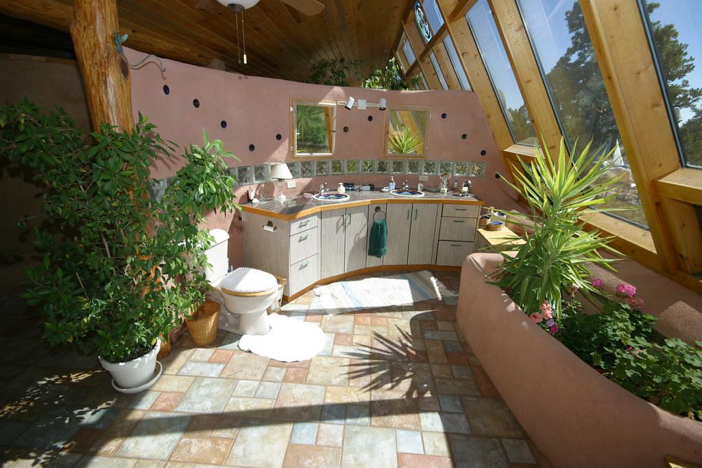black forest passive solar tire house master bathroom look flickr. Black Bedroom Furniture Sets. Home Design Ideas