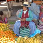 fruits on the market of Pisaq - Peru