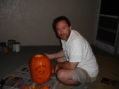 Soon the pumpkin is carved