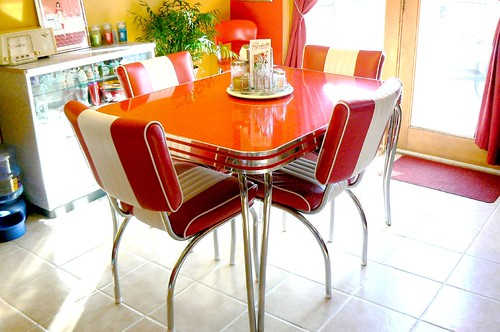 my retro 1950 39 s dinette table a company called bars and bo flickr. Black Bedroom Furniture Sets. Home Design Ideas