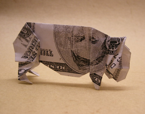 First Attempt at a Dollar-Bill Pig | by EricGjerde