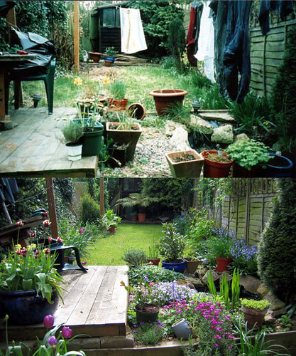 My garden before and after when i moved in it was for Landscape my garden