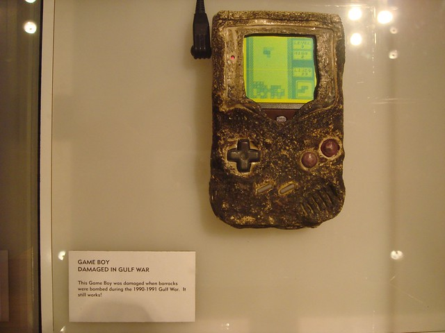 This gameboy survived a bombing during the Persian Gulf war. Those things were built tough.