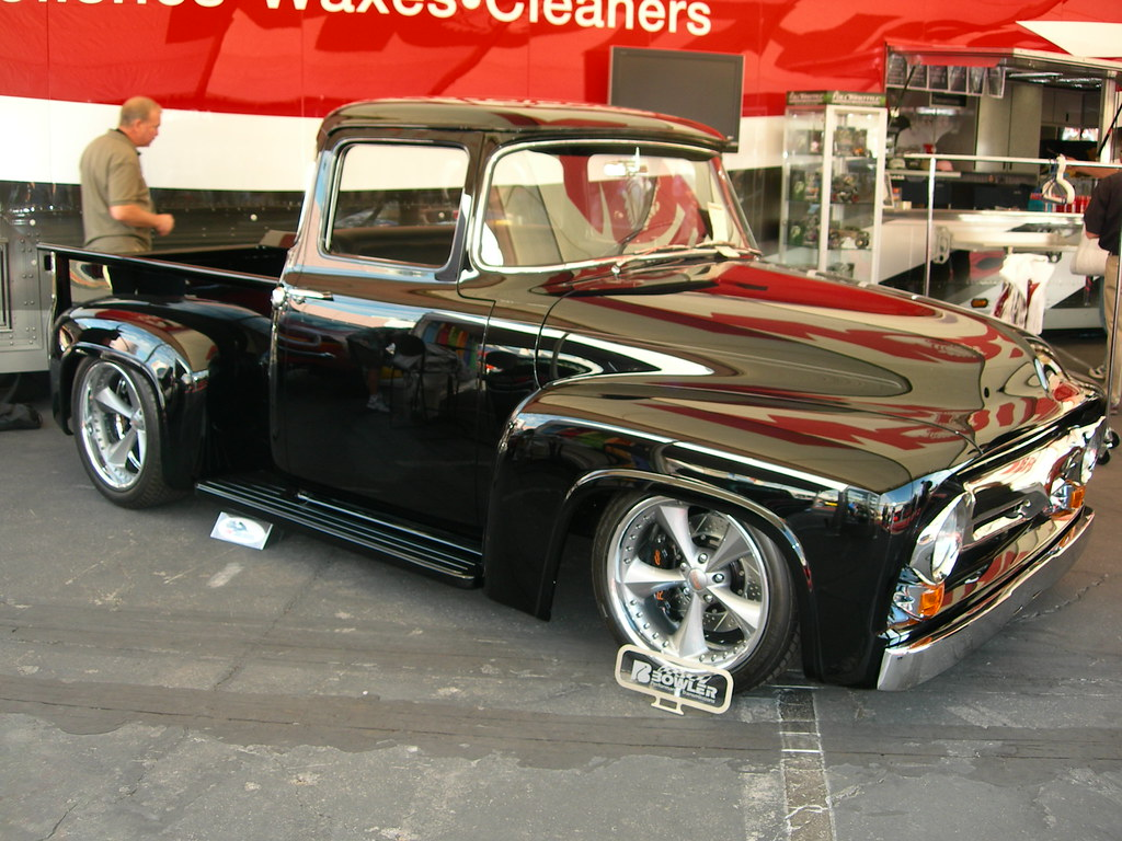 Classic Ford F Pickup Truck By West Coast Customs also C E Cf Fcfa Ff Db Ff Ec likewise Dsc likewise C E Fec B additionally S L. on 1956 ford f100 panel truck