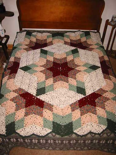 Prairie Star Afghan Pattern Source Under Cover 60