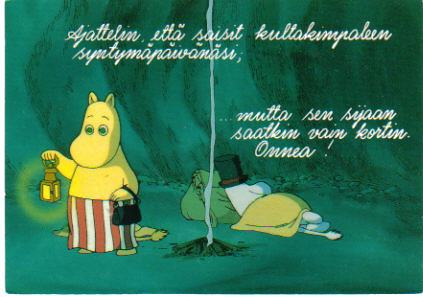 Birthday Cards By Text ~ Moomins birthday card from finland the text means somethinu flickr