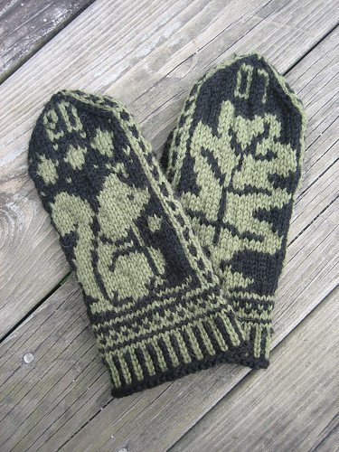 Squirrel and Oak Mittens | by TwinKnit