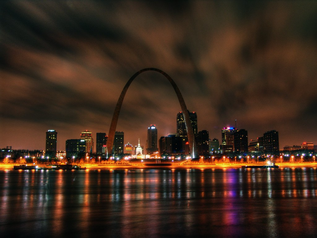 St louis arch the arch in hdr from east st louis for St louis architecture