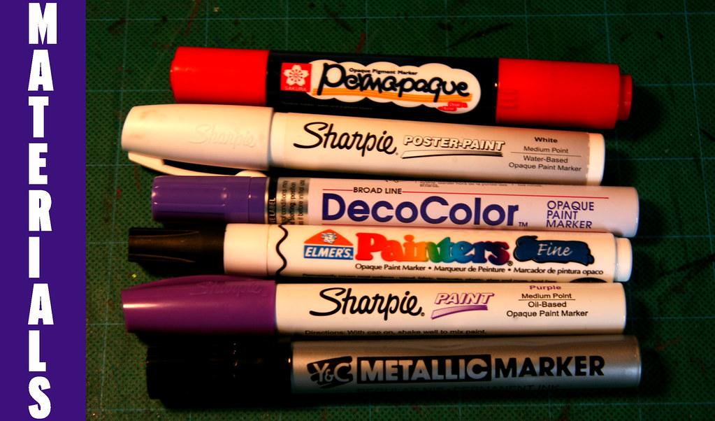 Uchida Metallic Paint Marker Contents