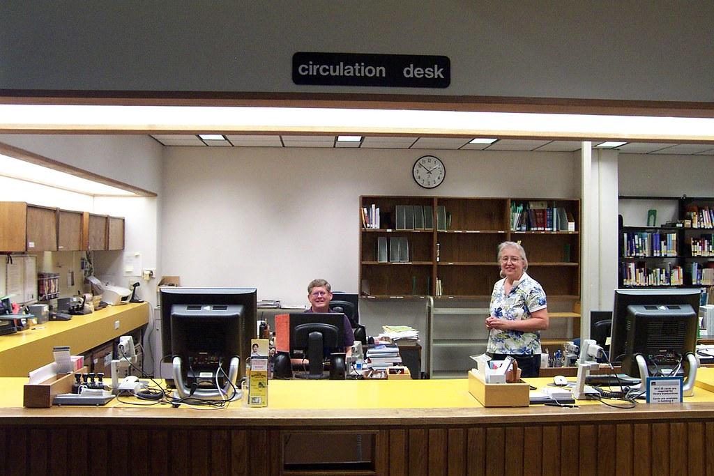 Circulation Desk Friendly Faces At The Circulation Desk