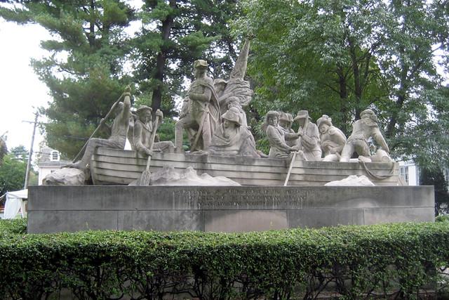 Limestone Statue Of Washington Crossing The Delaware Flickr