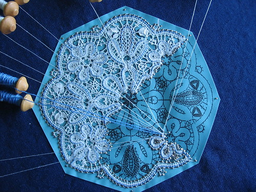Progress on the Russian tape lace | by Not Your Real
