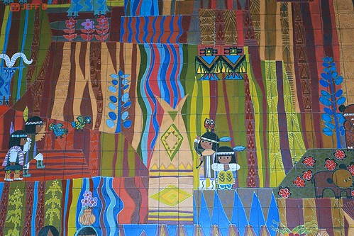 Aa033 contemporary mary blair mural 2 the mural in the for Contemporary resort mural