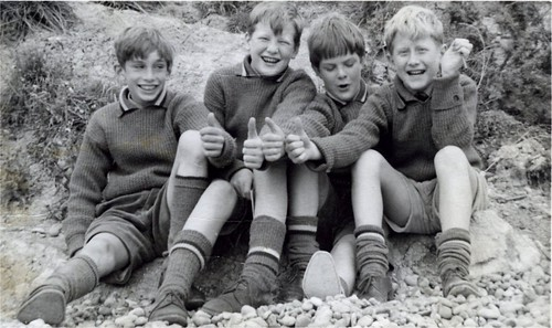 Schoolboys in England, on the beach | I took this picture ...