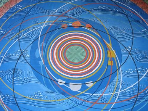 Mural of the cosmic mandala in punakha brentolson flickr for Mural mandala
