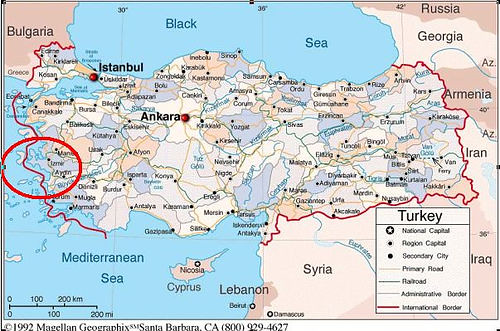 Turkey map Cesme is situated on the west coast of Turkey Flickr