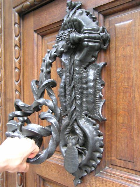 Extrememly Elaborate Casa Calvet Door Knocker By Gaudi
