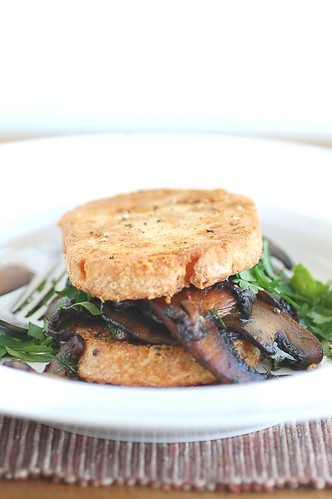 sourdough french toast with field mushrooms | by jules:stonesoup