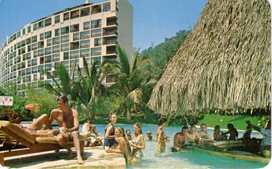 Hotel Camino Real Puerto Vallarta Postcard Vintage