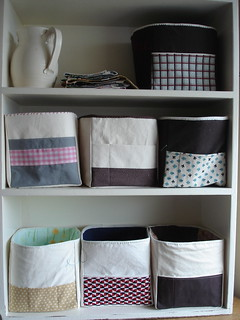 fabric boxes.  seven- up from three. | by all buttoned up