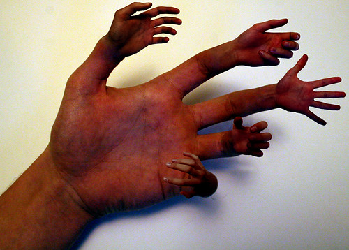 hands for surrealism | this image was inspired by someone