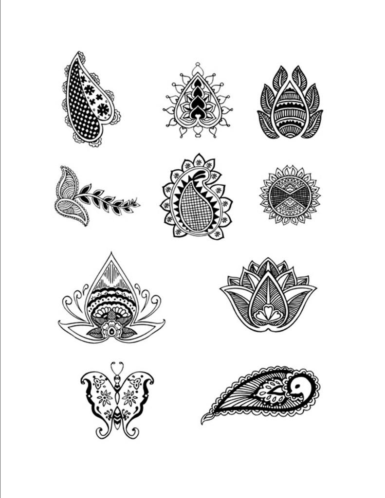 White Henna Designs Patterns