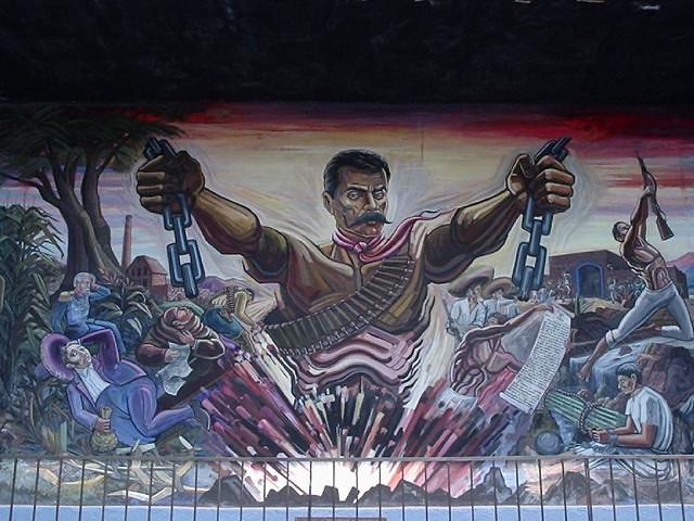 Mural parte del mural que se encuentra en la casa museo for Emiliano zapata mural