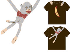 Sock Monkey on your back-shirt submission | by kalien68