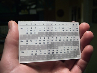 Compact Calendar Card - Design 3 | by Joe Lanman