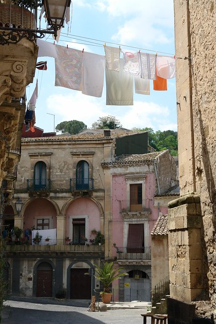 Sicily village street view