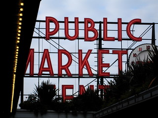Pike Place Market sign, Seattle | by cityofsound