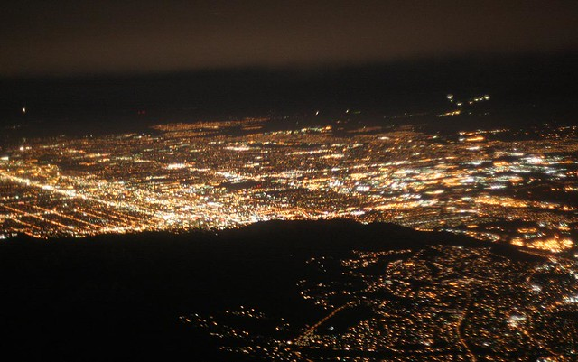 Salt Lake City Light Pollution Looking South South West