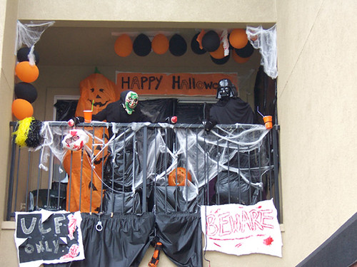 My Apartment Balcony Decorated For Halloween Katie