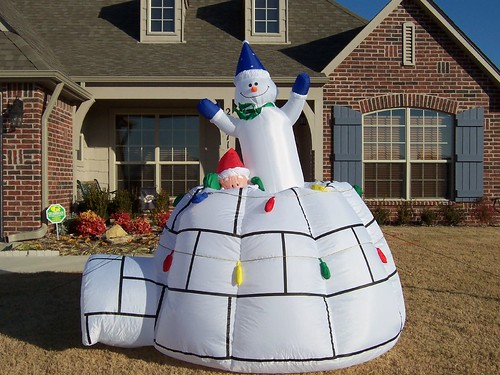 Pop Up Snowman Outdoor Christmas Decoration