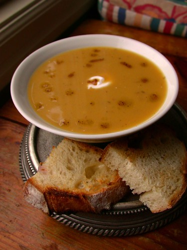 Butternut Squash Soup with Apple and Roasted Hazelnuts | by Jocelyn ...
