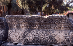 Israel - December 1981 - Capernaum - Part of a lintel of the synagogue | by πρώρα (Prora)