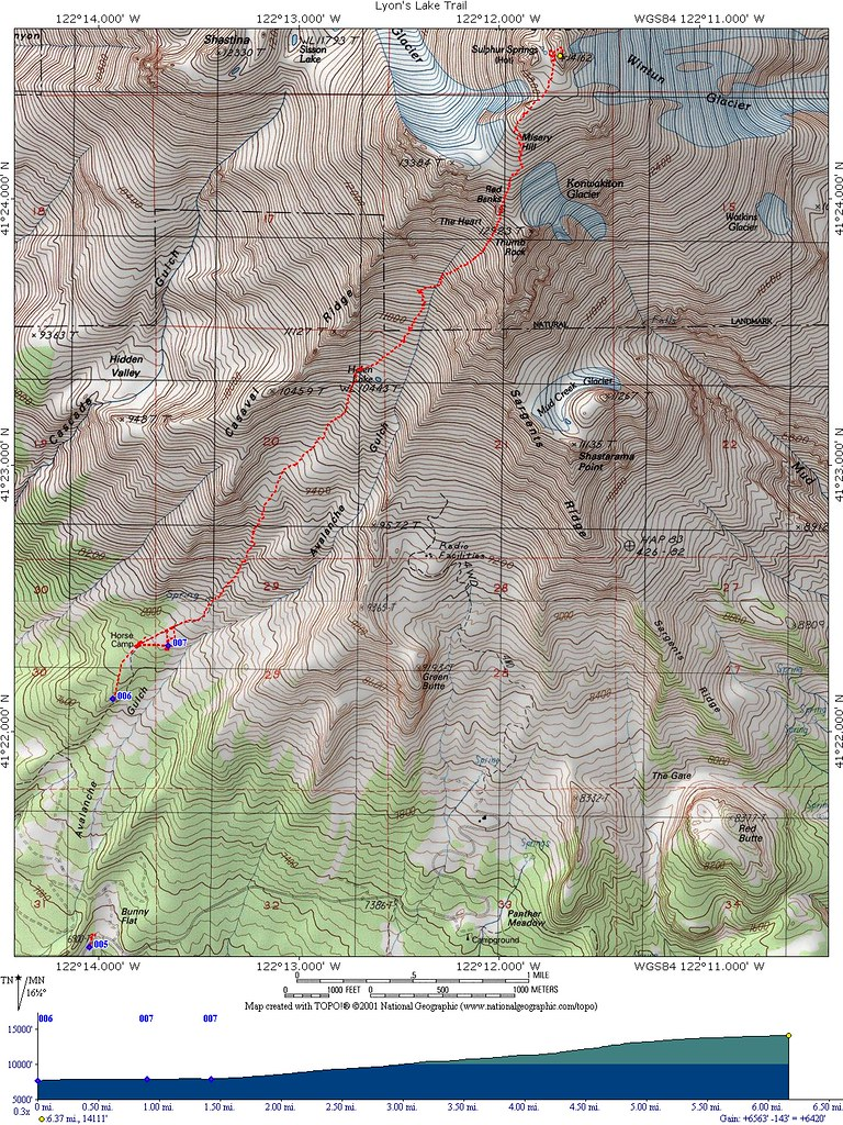 Mt Shasta Topographic Map Here A Map Of Our Route The Sta Flickr