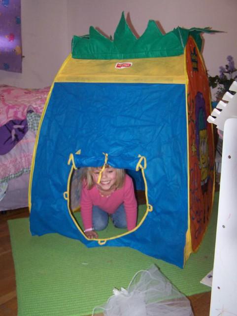 ... Emily in her Spongebob Pineapple Tent   by Shylah  sc 1 st  Flickr & Emily in her Spongebob Pineapple Tent   Shylah Erskin   Flickr