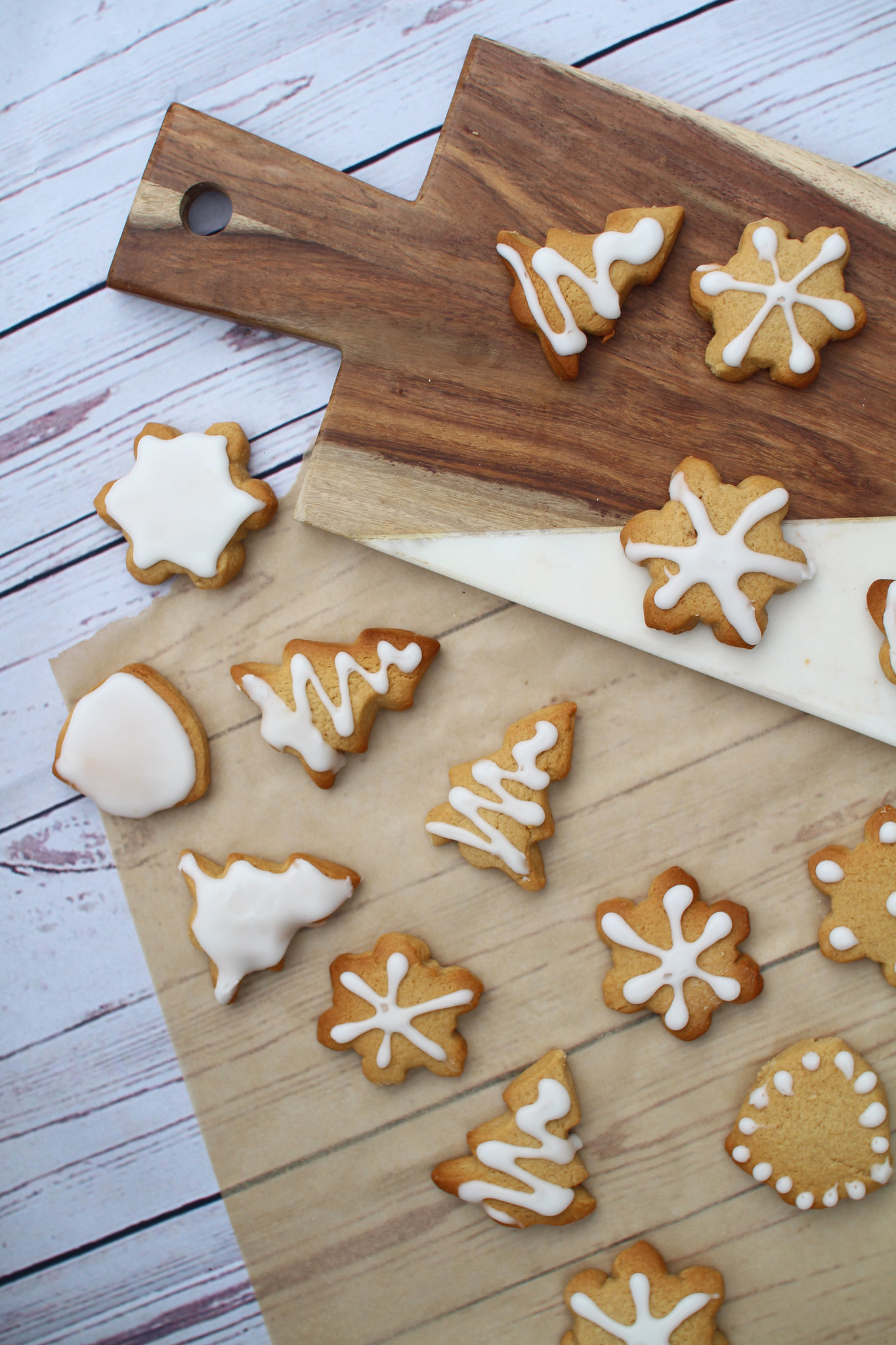 Classic gingerbread Christmas festive iced shapes recipe UK lifestyle blogger