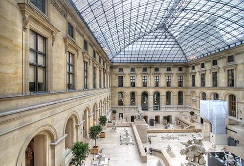 Grand Louvre Glass Atrium Covered Courtyard Paris 2006