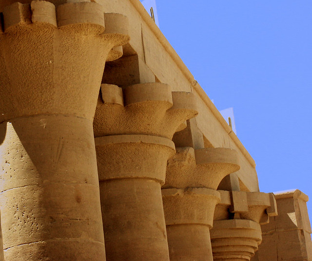Egypt Ancient Architecture Columns And Capitals Giosmarta Flickr