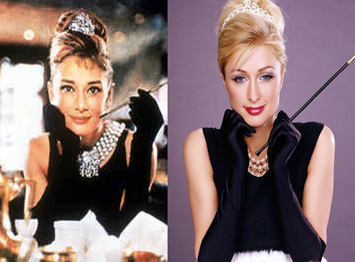 paris hilton 2000s x audrey hepburn 1950s that s hot. Black Bedroom Furniture Sets. Home Design Ideas
