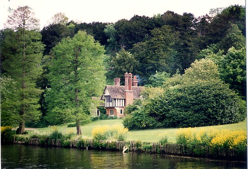 Cottage at Cliveden on River Thames