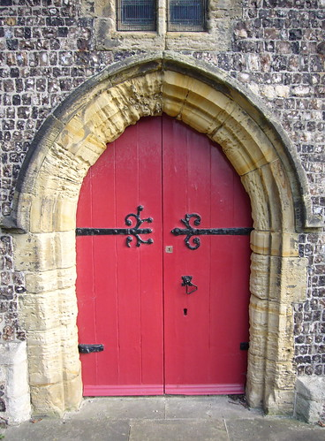 Red door, St Nicholas Church | by clagnut